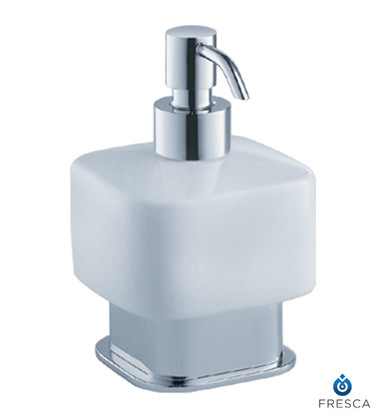 Fresca FAC1361 Square Soap & Lotion Dispenser - Countertop  - Chrome