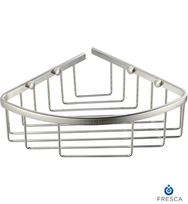 Fresca FAC1002 Corner Soap / Sponge / Shampoo Wire Basket  - Chrome