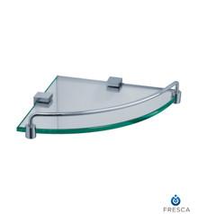 Fresca FAC0448 Corner Glass Shelf with Railing - Chrome