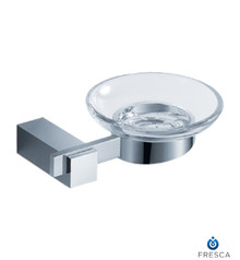 Fresca FAC1403 Square Wall Mounted Soap Dish  - Chrome