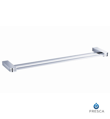 "Fresca FAC1339 20"" Double Towel Bar  - Chrome"