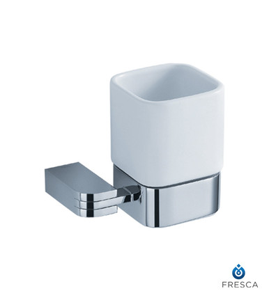 Fresca FAC1314 Wall Mounted Square Tumbler Holder  - Chrome