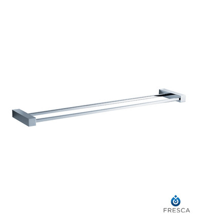 "Fresca FAC0440 26"" Double Towel Bar  - Chrome"