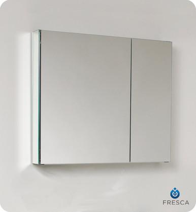 """Fresca FMC8090 29'' Bathroom Medicine Cabinet 26"""" H X 29.5"""" W W/ Mirrors  - Mirror"""