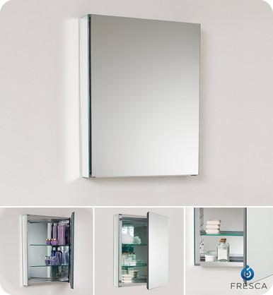 """Fresca FMC8058 19.75"""" Mirrored Bathroom Medicine Cabinet 26"""" H X 19.5"""" W"""