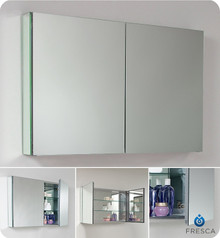 "Fresca FMC8010 39"" Bathroom Medicine Cabinet 26"" H X 39.5"" W with Mirrored Doors"