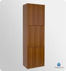 "Fresca FST8090TK 18'' Bathroom Linen Cabinet 59"" H X 17.75"" W X 12"" L W/ 3 Large Storage Areas  - Teak"