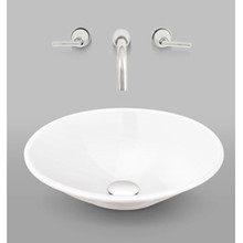 "Mansfield Tempo 805NS 16 1/2""  Round China Vessel Sink  - White"
