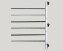 "Amba Swivel D006-P 22"" W x 29"" H Plug In Towel Warmer - 6 Bars - Polished Stainless"