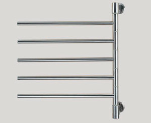 Amba Swivel D005-P 22 W x 25 H Plug In Towel Warmer - 5 Bars - Polished Stainless
