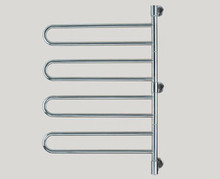 "Amba Swivel B004-P 25"" W x 37"" H Plug In Towel Warmer - 4 Double Bars - Polished Stainless"