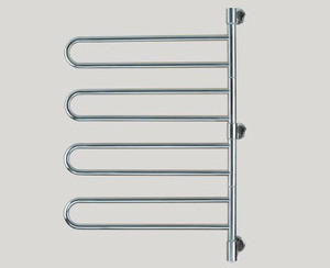 Amba Swivel B004-B 25 W x 37 H Plug In Towel Warmer - 4 Double Bars - Brushed Stainless