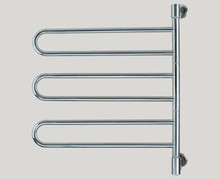 "Amba Swivel B003-B 25"" W x 29"" H Plug In Towel Warmer - 3 Double Bars - Brushed Stainless"