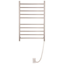 Myson WPRL10 Wall Mount Electric Towel Warmer - 10 Bars  -  Bright Stainless Steel