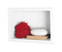 "Swanstone AS-1075 Recessed 10-3/4"" x 7-1/2"" x 4-1/8"" Soap / Shampoo / Sponge Shelf – White , Bisque or Bone"