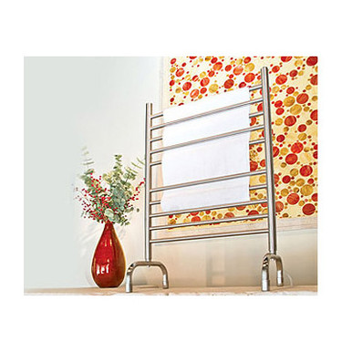 "Amba SAFSP-24 Freestanding 23 5/8"" W x 36 7/16"" H Towel Warmer - Plug In - Polished Stainless"