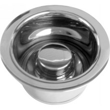 Westbrass D2082-26 Extra Deep ISE Disposal Flange and Stopper - Polished Chrome