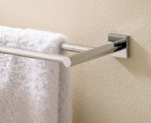 "Valsan Braga 67675ES 19 11/16"" Double Towel Bar - Rack - Satin Nickel"