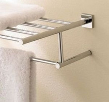 "Valsan Braga 67676CR 23 5/8"" Double Towel Bar - Rack - Chrome"