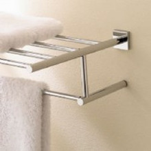 "Valsan Braga 676632CR 23 5/8"" Towel Bar & Shelf  - Chrome"