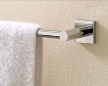 "Valsan Braga 67645ES 19 11/16"" Towel Bar - Satin Nickel"