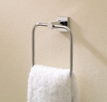 Valsan Braga 67640CR Small Towel Ring - Chrome