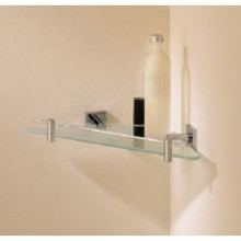 Valsan Braga 67638ES Corner Glass Shelf - Satin Nickel