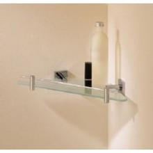 Valsan Braga 67638CR Corner Glass Shelf - Chrome