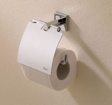 Valsan Braga 67620ES Toilet Tissue Paper Holder with Lid - Satin Nickel