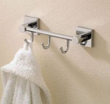 Valsan Braga 67613ES Triple Prong Robe Bathroom Hook - Satin Nickel