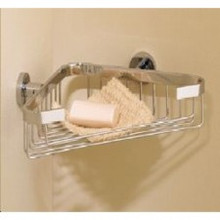 Valsan Porto 67589CR Corner Soap Basket - Wall Mounted - Chrome
