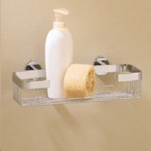 "Valsan Porto 67582ES 11 13/16"" Medium Soap Basket - Wall Mounted - Satin Nickel"