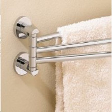 "Valsan Porto 67570ES 17 5/16"" Adjustable 3 Swivel Arm Towel Rail - Bar - Satin Nickel"