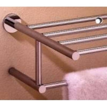 "Valsan Porto 67563NI 15 3/4"" Towel Bar & Shelf - Polished Nickel"