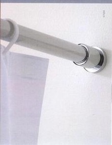 Valsan Porto 67504ES Shower Curtain Rod Brackets (Pair) - Satin Nickel