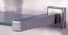 "Valsan Cubis Plus 67462CR 20"" Glass Shelf - Chrome"