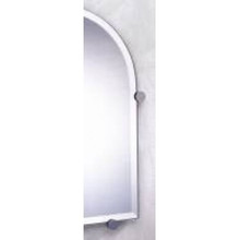 "Valsan Nova 671011ES 20 5/8"" x 16 3/8"" Mirror w/Fixing Caps-Satin Nickel"