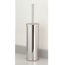 Valsan Cubis Plus 66498ES Freestanding Toilet Brush Holder-Satin Nickel