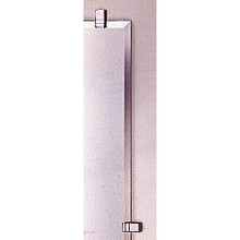 "Valsan Cubis Plus 664011ES 20 1/2"" x 15 1/2"" Rectangular Mirror w/Fixing Caps - Satin Nickel"