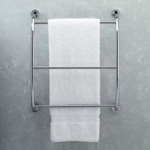 Valsan Essentials 57200CR Wall Mounted Towel Bar - Rack - Chrome
