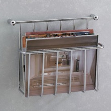 Valsan Essentials 57101CR Magazine Holder - Wall Mounted - Chrome