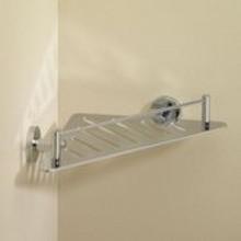 Valsan Essentials 53610CR Triangular Shower Shelf / Basket  - Chrome