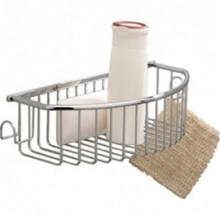 Valsan Essentials 53435ES Curved Soap Basket W/Hook - Wall Mounted - Satin Nickel