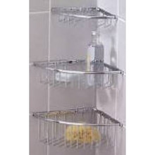 Valsan Essentials 53422CR Large Corner Wire Soap Basket - Wall Mounted - Chrome