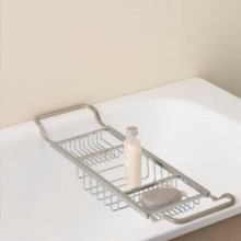 Valsan Essentials 53413ES Adjustable Bathtub Caddy - Rack - Satin Nickel