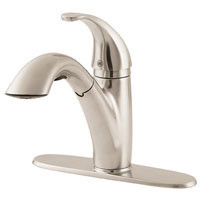 Price Pfister Parisa Modern GT534-7SS One Handle Kitchen Faucet with Pullout Spray-Stainless