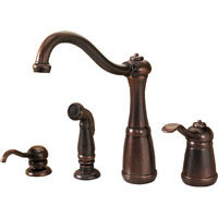 Price Pfister Marielle T26 - 4NUU One Handle Kitchen Faucet With Spray & Soap Dispenser - Rustic Bronze