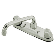 Kingston Brass Two Handle Widespread Kitchen Faucet - Polished Chrome KF101