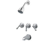 Price Pfister G01-81BC Three Handle Tub & Shower Faucet-Chrome