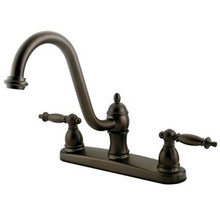Kingston Brass Two Handle Widespread Kitchen Faucet - Oil Rubbed Bronze KB3115TLLS